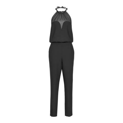 Reiss Black Prisca Halterneck Jumpsuit