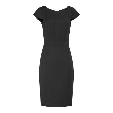 Reiss Black Huxley Tailored Dress