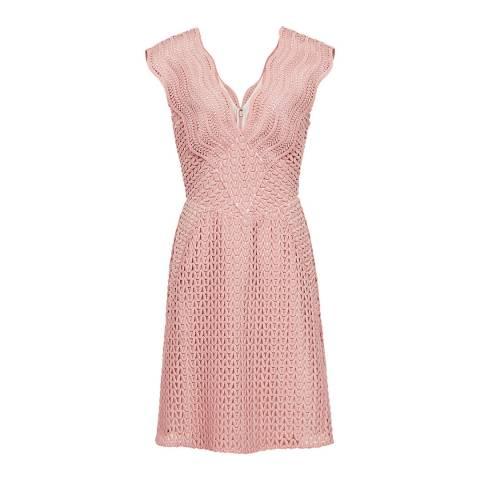 Reiss Pink Marianna Lace Dress
