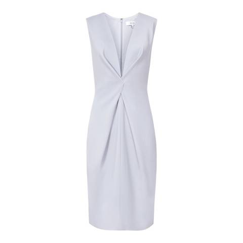 Reiss Silver Mosaic Twist Front Dress