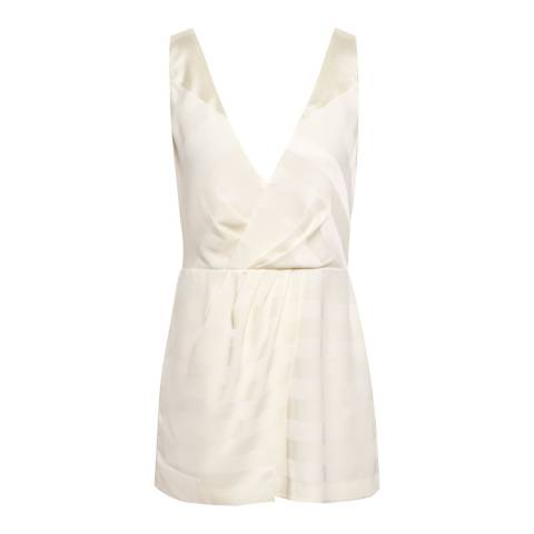 Reiss White June Wrap Front Top