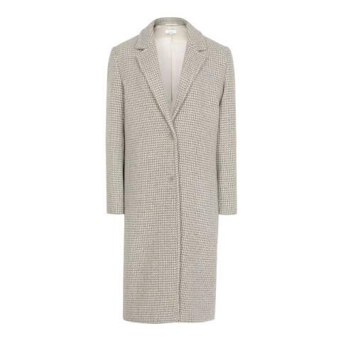 Reiss Blue/Grey Bentley Check Overcoat