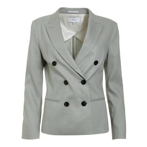 Reiss Warm Grey Maddie Tailored Jacket