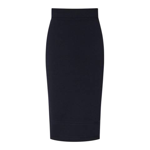 Reiss Navy Guardian Knitted Skirt