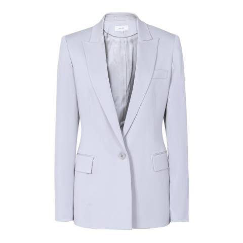 Reiss Blue Cloud Crepe Tailored Jacket