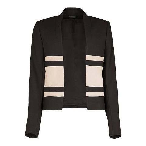 Reiss Black Selva Short Jacket