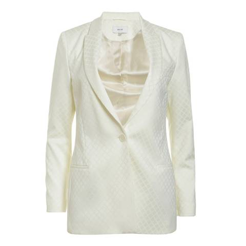 Reiss Cream Fortuna Jacquard Jacket