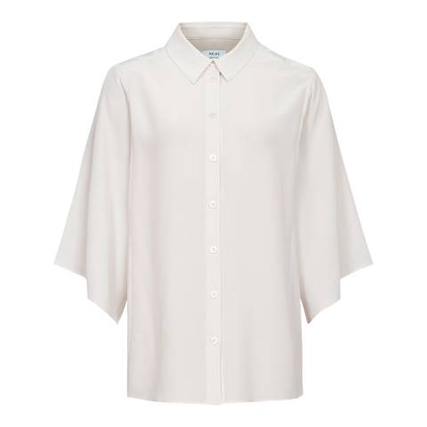 Reiss Ivory Guila Wide Sleeve Shirt
