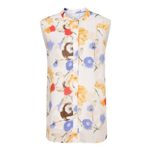 Reiss Multi Meriel Floral Sleeveless Blouse