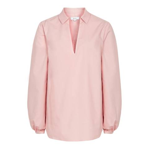 Reiss Pale Pink Veronica Cotton Blouse
