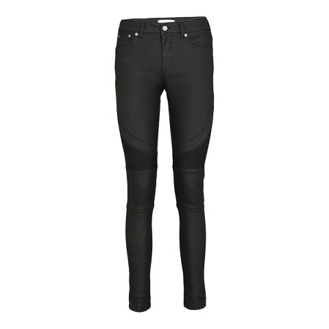 Reiss Black Harlet Coated Skinny Jeans