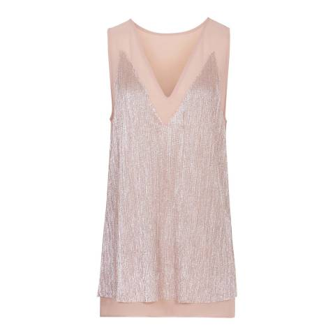 Reiss Pink London Metallic Top