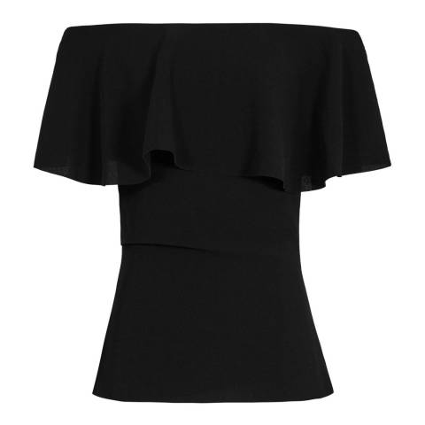 Reiss Black Rose Balmer Off The Shoulder Top