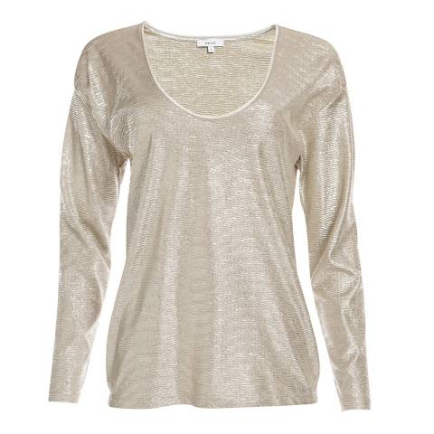 Reiss Gold Tor Metallic Top