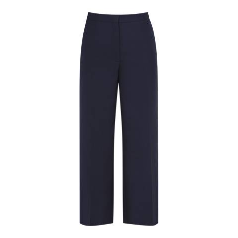 Reiss Navy Faulkner Cropped Trousers