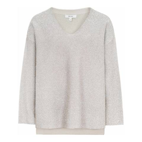 Reiss Nude Julietta Metallic Jumper
