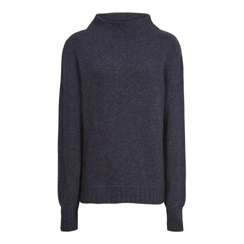 Reiss Navy Lara High Neck Jumper