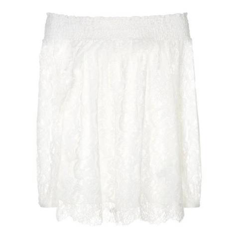 Reiss Off White Levy Lace Top