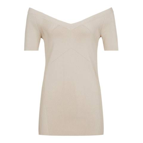 Reiss Apricot Rosina Cold Shoulder Top