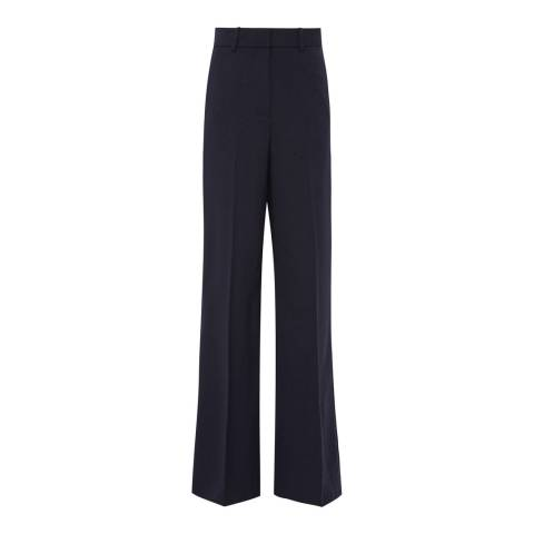 Reiss Navy Anakin Wide Leg Trousers