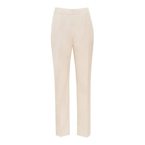 Reiss Apricot Etta Tailored Fit Trousers