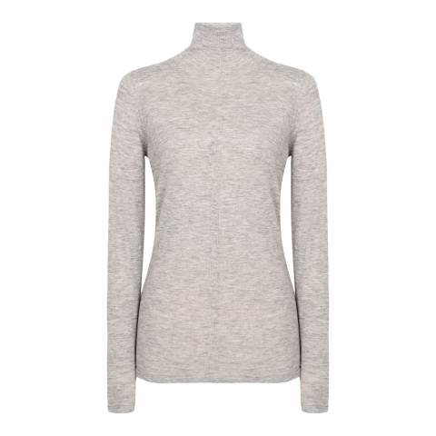 Reiss Grey Marl Amberly Wool/Cashmere Top