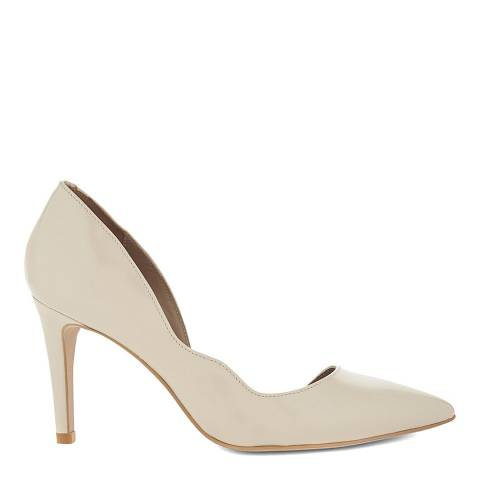 Reiss Nude Bardot Suede Heeled Courts