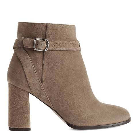 Reiss Mink Fulham Suede Ankle Boots
