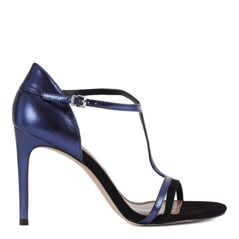 Reiss Navy Constane T-Bar Heeled Sandals
