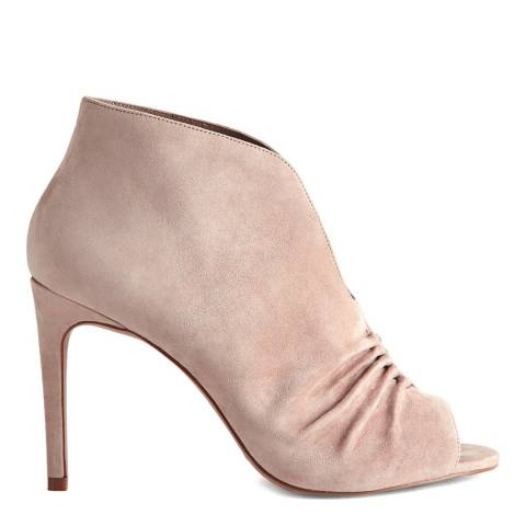 Reiss Blush Elizabetha Open-Toe Ruched Ankle Boots