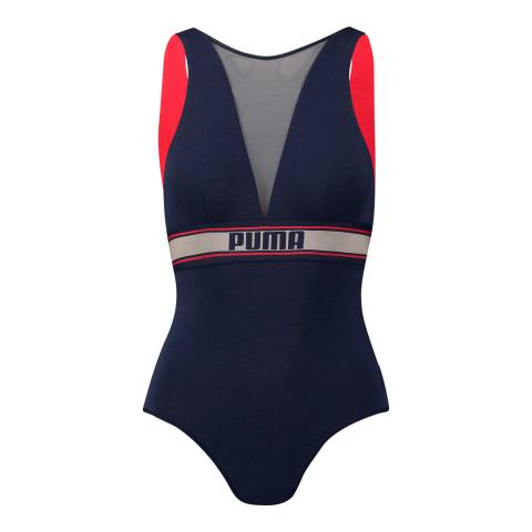 Puma Navy/Red High Neck Bodysuit
