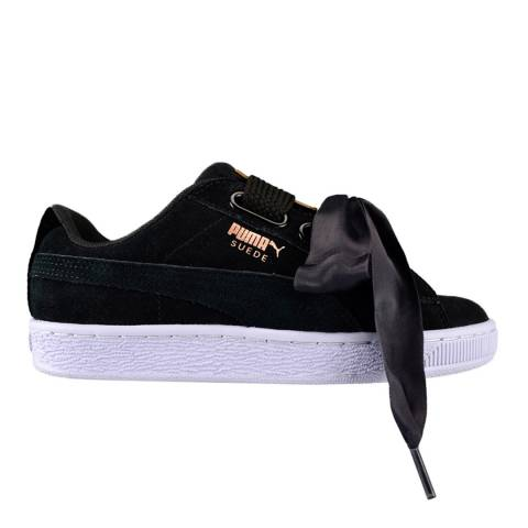 Puma Black Suede Heart Sneakers