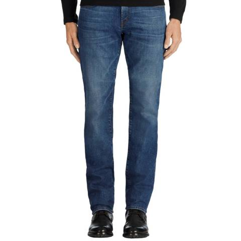 J Brand Blue Kane Straight Fit Jeans