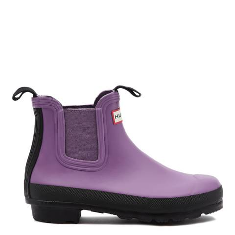 Hunter Lilac & Black Original Two Tone Chelsea Boots