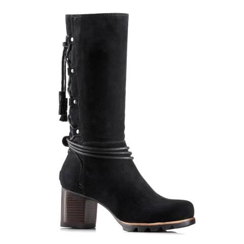 Sorel Black Suede Farah Mid Ankle Boots
