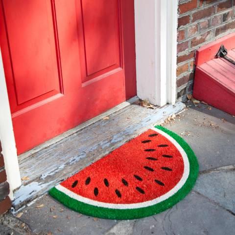 Entryways Watermelon Slip Resistant Coir Doormat 43x71cm