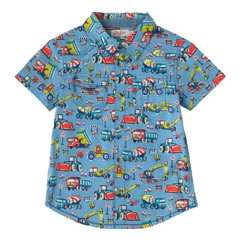 Cath Kidston Boys Blue Construction Site Shirt