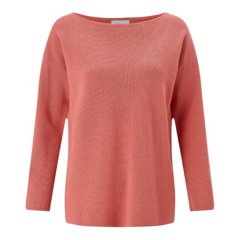 Jigsaw Coral Sculpted Wool Jumper