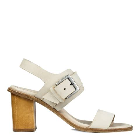 Jigsaw Taupe Britta Buckle Leather Sandals