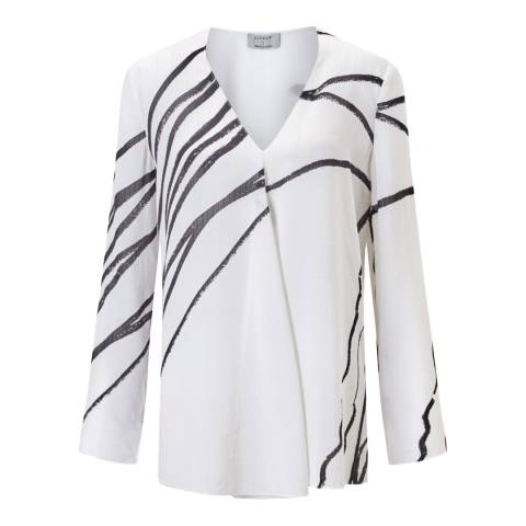 Jigsaw Ivory Butterfly Silk Top