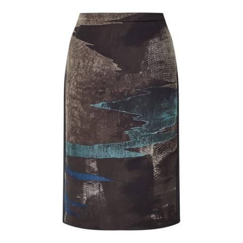 Jigsaw Rock Ocean Tide Jacquard Skirt
