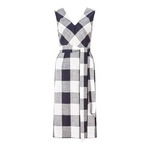 Jigsaw Feather Gingham Summer Dress