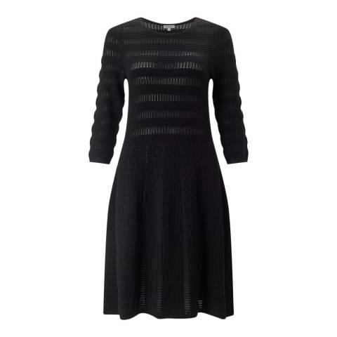 Jigsaw Black Textured Knit Dress
