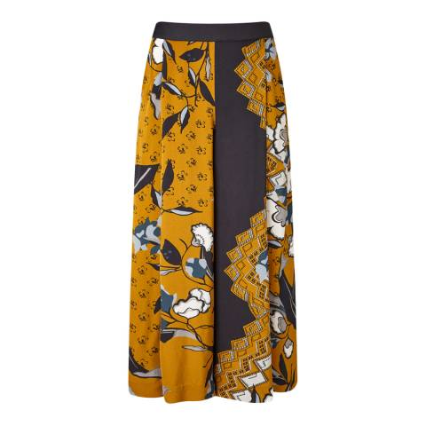 Jigsaw Warm Orange Nordic Crepe Culottes