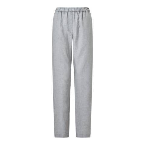 Jigsaw Grey Cold Water Linen Trousers