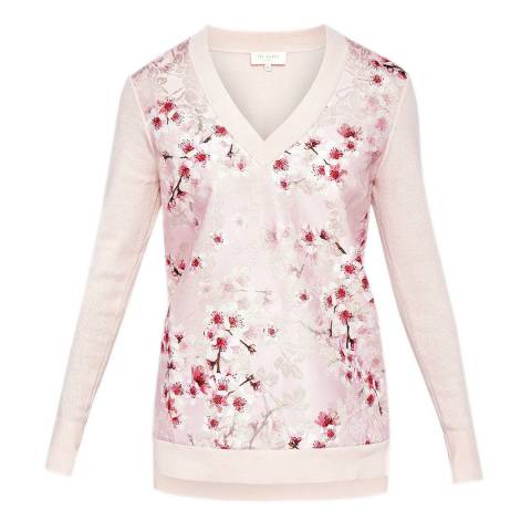Ted Baker Light Pink Merisha Soft Blossom Jumper