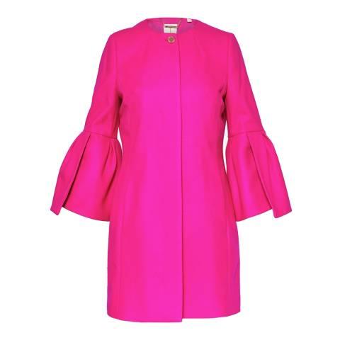 Ted Baker Bright Pink Jordane Wool/Cashmere Blend Coat