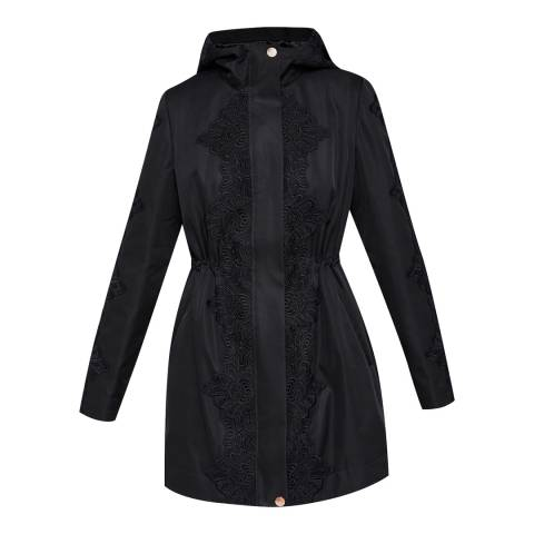 Ted Baker Black Luceen Lace Parka Jacket