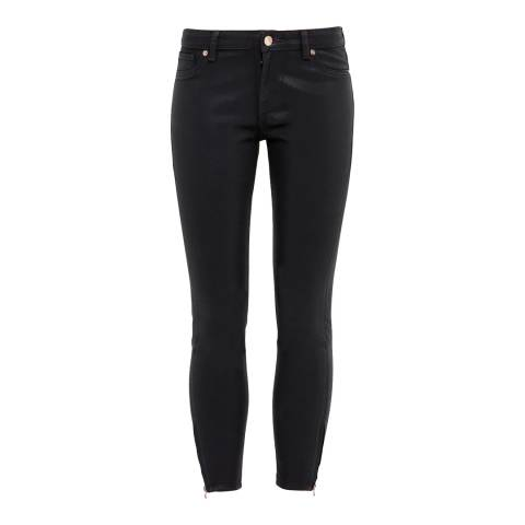 Ted Baker Black Annnas Wax Finish Skinny Jeans