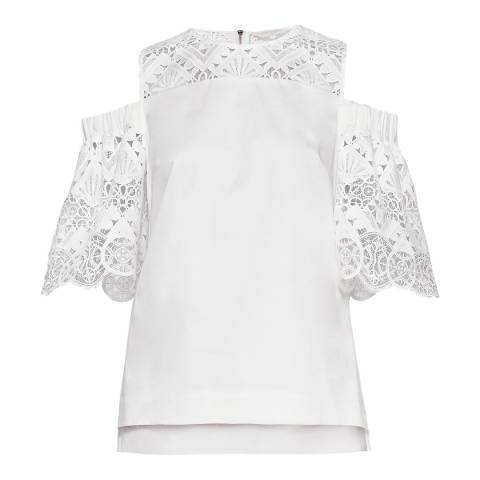 Ted Baker White Taluah Cold Shoulder top